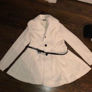 White dressy woman's coat